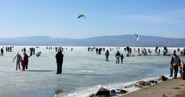 Lake Balaton - Beach in Winter